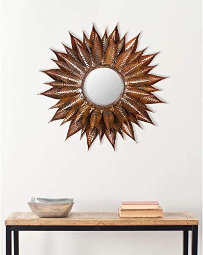 Safavieh Home Collection Sunflower Mirror, Copper