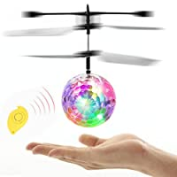 RC Flying Ball, Kid and Boy Toys,Infrared Induction Helicopter Ball with Rainbow Shinning LED Lights and Remote Control for Kids,Flying Toy for Boys and Girls