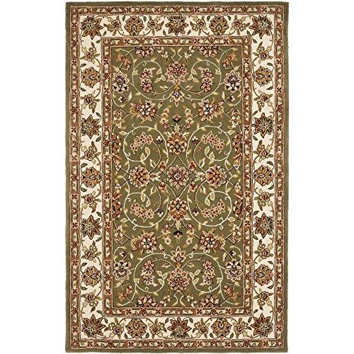 Safavieh Traditions Collection TD602B Handmade Sage and Ivory Wool Area Rug (9' x 12') - Tabriz Wool Area Rugs
