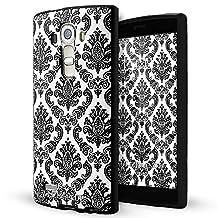 LG G4 case,Lizimandu soft TPU textured pattern Case for LG G4(Lace Flower Black)