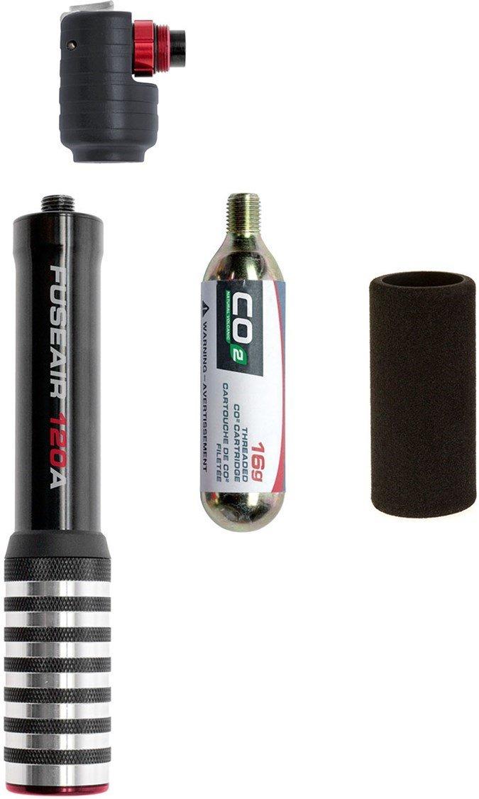 Axiom Fuseair 160A Bicycle Co2 Mini Pump // Black/Silver