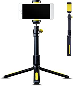 Black Eye Filming Handle & Tripod, Durable, Lightweight and Adjustable Filming Handle, Compatible with iPhone, Samsung and Most Other Mobile Devices