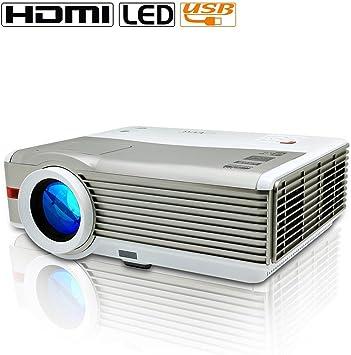 EUG LED Projector Home Cinema HD 1080p Support USB VGA ...