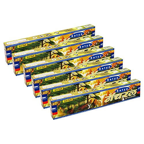 Satya Natural Agarbatti Pack of 6 Incense Sticks Boxes 15gms Each Supreme Quality Incense Sticks for Relaxation, Positivity and Peace - Satya Natural Incense