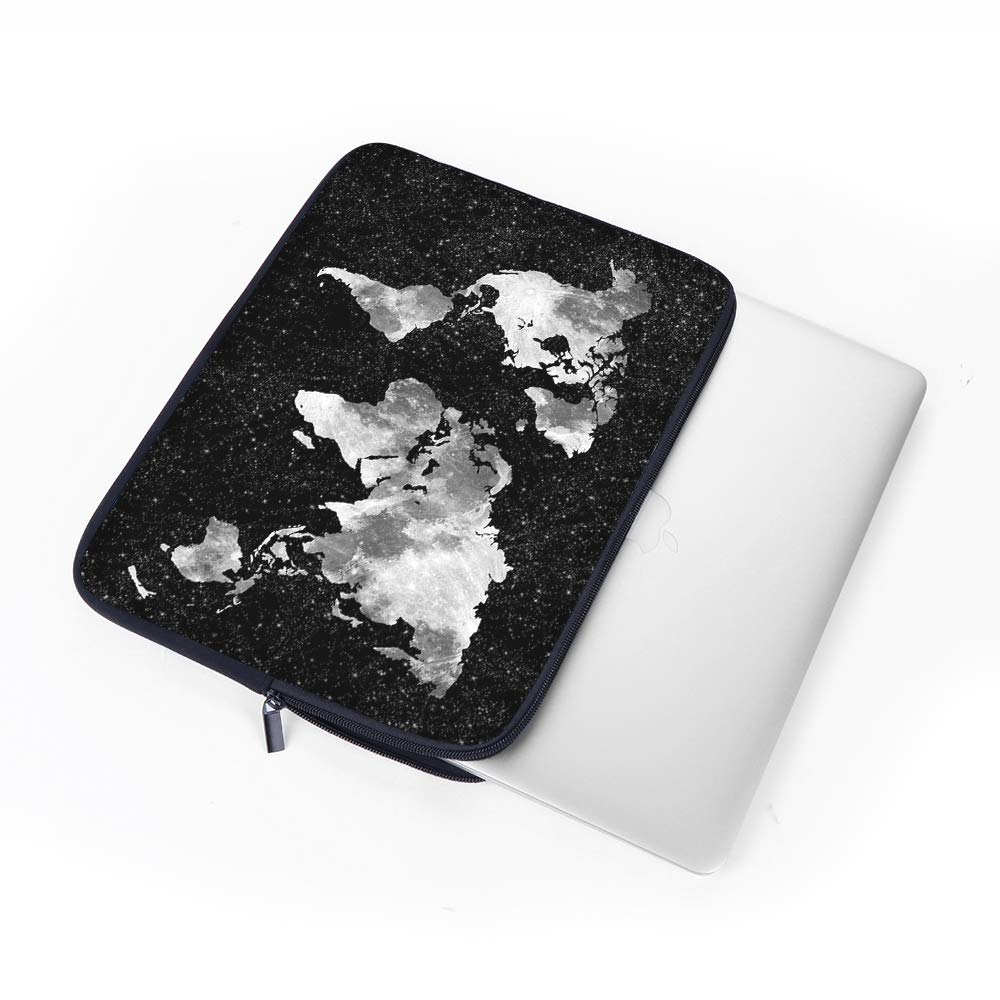 Netbook iCasso 13-13.3 Inch Laptop Sleeve White Marble Ultrabook Tablet PC Neoprene Elegent Protective Notebook Bag Briefcase Cover Carrying Case MacBook Air MacBook Pro