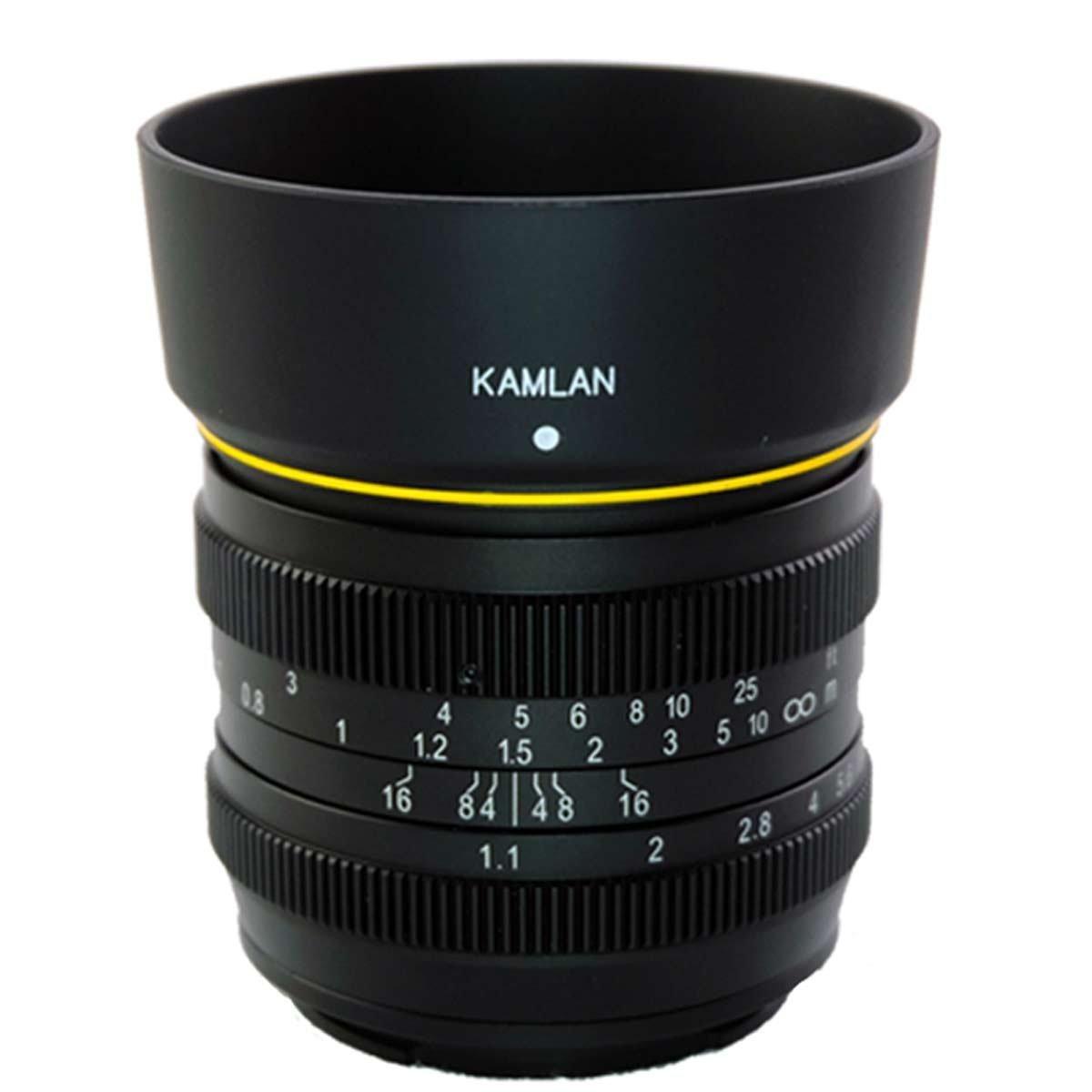Kamlan F1.1 - Objetivo de Enfoque Manual para cámara Canon EOS-m ...