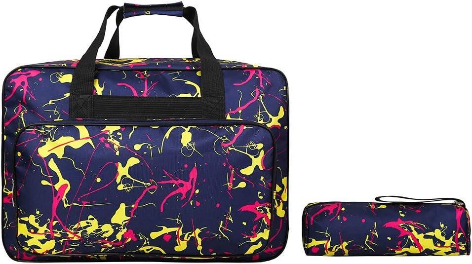 Bolsa de transporte universal para máquina de coser, funda de almacenamiento acolchada con bolsillos y asas, funda de nailon para máquina de coser para la mayoría de ...