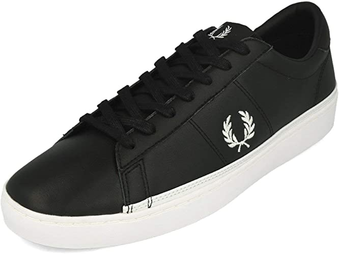 Fred Perry Spencer Leather Black White
