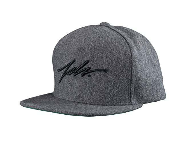 1a3ae9aebde Image Unavailable. Image not available for. Colour  JSLV Signature Wool Snapback  Hat Charcoal
