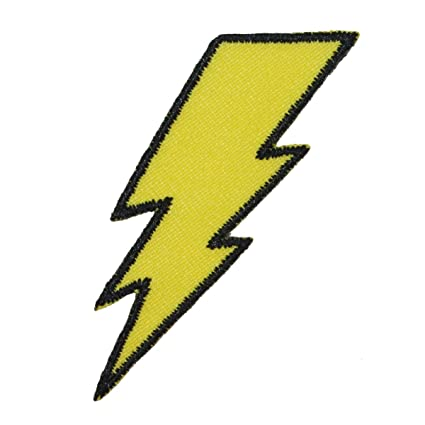 Lightning Bolt Patch Symbol Electric Zap Icon Flash Strike Iron On Applique