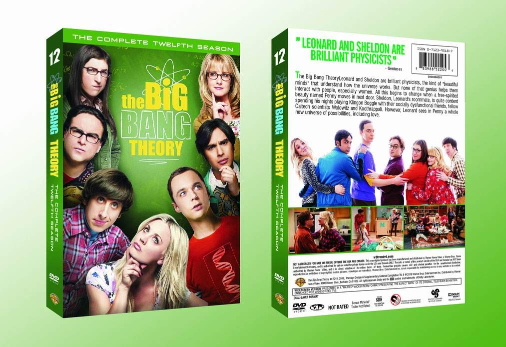 The Big Bang Theory: The Complete 12 Season DVD Set Sealed New
