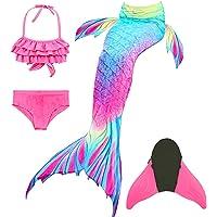 DIIQII Zeemeerminstaart voor meisjes, zeemeerminstaart badmode voor kinderen, prinses cosplay bikini badpak met monovin