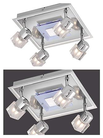 Lámpara de techo 4 focos con tarjeta de iluminación LED Spot ...