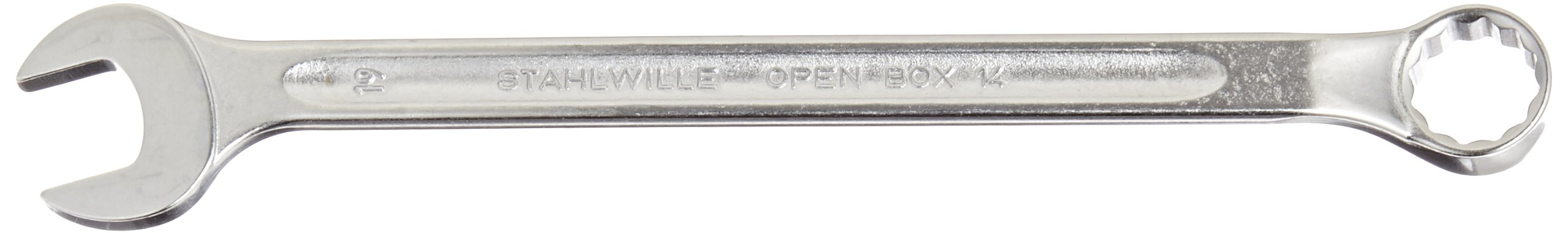 Stahlwille 14-19 Steel Long Combination Spanner, 19mm Diameter, 265mm Length, 39.5mm Width
