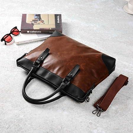 KNCDL Maletín Casual PU Leather Mens Maletín Business Bag