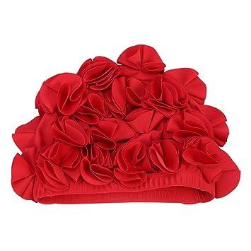 GLOGLOW Gorra de natación Floral, para Mujeres, niños, Retro, Flores, Gorro