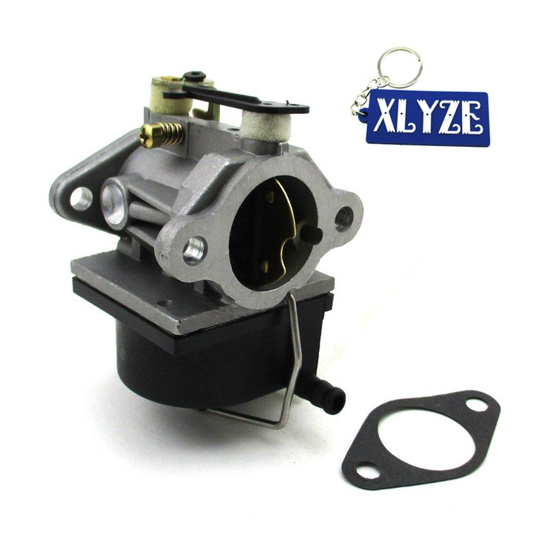 Xlyze Carburateur avec joint pour Tecumseh 640065 A 640065 13hp 13.5hp 14hp 15hp Moteur tracteur Carb Compatible avec Ov358ea Ovh135 Ohv110 Ohv115 Ohv125 Ohv130 Ohv120