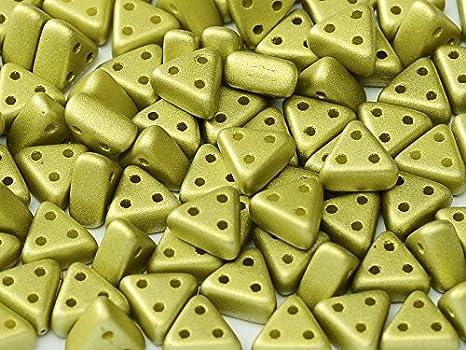 eMMA  3-Hole Czech Glass Beads 3x6mm 10 Grams NEW !!!