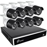 Loocam 8CH 1080P HD-TVI Video DVR Security Camera System 8x 2.0 MP(1920x1080P) Surveillance Camera Kit 2TB Hard Drive, Motion Detection & Email Alert, Intuitive Android & iOS APP