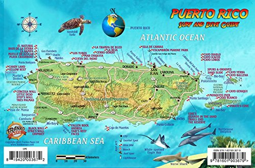 Puerto Rico Dive Surf Map And Reef Creatures Guide Franko - Puerto rico map