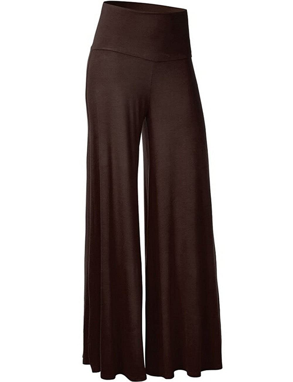 Emma Women's Yoga Gym Sport Lounge Legging Trousers Classic High Waist Wide Leg Palazzo Pants