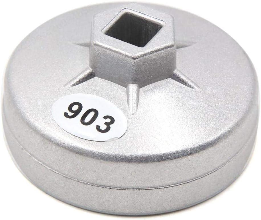ALONGB 14 Llaves de Filtro de Aceite con Tapa de Flauta 76 mm de di/ámetro Interior para el Coche.