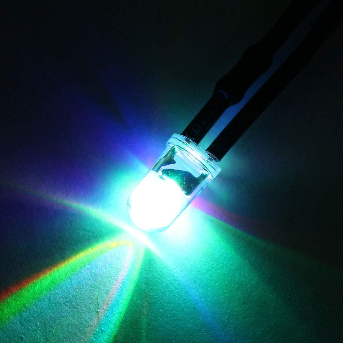 10Pcs 5mm pre-wired LED slow flashing DC24V transparent lens light emitting diodes