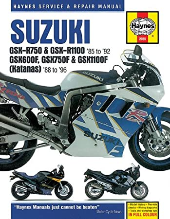suzuki gsxr 600 wiring diagram amazon com haynes repair manual for 92 93 suzuki gsxr600 haynes  haynes repair manual for 92 93