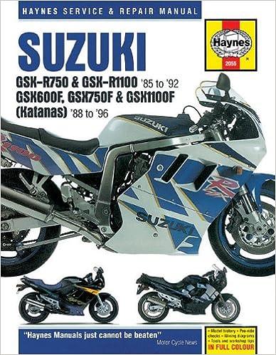 Suzuki GSXR Katana 8896 Haynes Repair Manuals 1st Edition