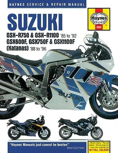 suzuki gsxr katana 88 96 haynes repair manuals haynes rh amazon com 1993 Suzuki Katana 750 Specs 1993 Suzuki Katana 600 Fairings