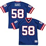 2d18523cd3a New York Giants Mitchell & Ness 1986 Carl Banks #58 Replica Throwback Jersey  - Blue