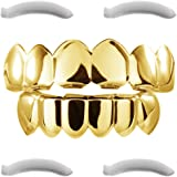 Plaqué or 24k grillz pour la bouche top bottom Hip Hop dents