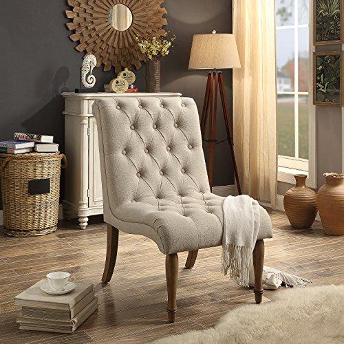 Rosevera P3 Iris Accent Chair, Beige