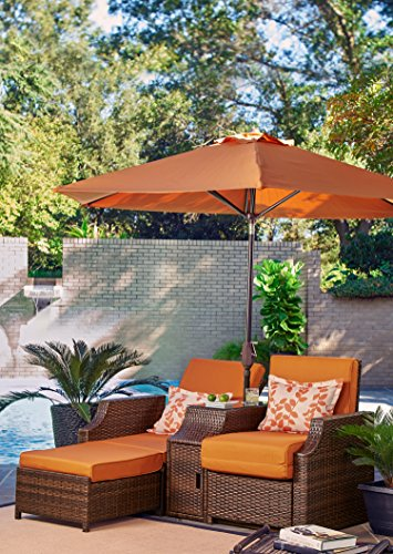 Relax A Lounger Stn-3PC-OR-Set Santa Barbara Outdoor Convertible Chair (Lifestyle Solutions Santa)