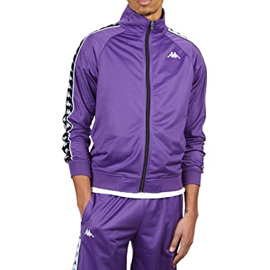 e4695eb24a Kappa 222 Banda Anniston Jacket - Violet/Black/White - XL at Amazon ...