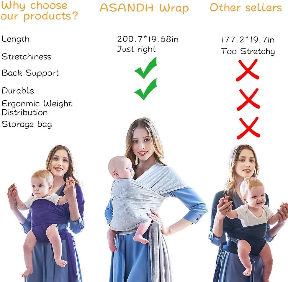 /Écharpe de Portage ; Porte-b/éb/é ergonomique mains libres en tissu /à mailles id/éal pour /ét/és//plage 45 lb Pourpre Porte b/éb/é doux et confortables pour b/éb/és jusqu/à 20 kg