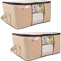 Prettykrafts Underbed Storage Bag, Storage Organizer, Blanket Cover with Side Handles