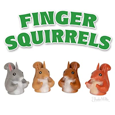 Archie McPhee Finger Squirrels - Finger Puppets: Toys & Games