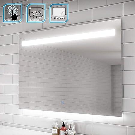 Elegant 1000 X 700 Mm Heated Backlit Led Illuminated Bathroom Mirror