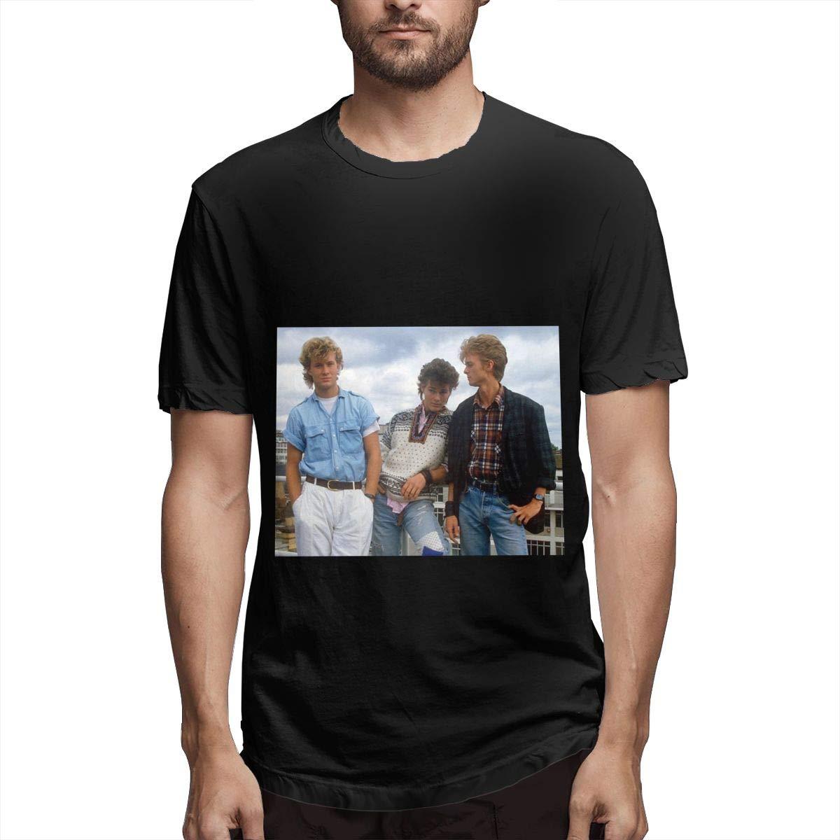 Lihehen S A Ha Retro Printing Round Neck Tees Shirts