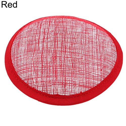 Women Sinamay Cocktail Hat Fascinator Round Base Millinery DIY Craft Accessory