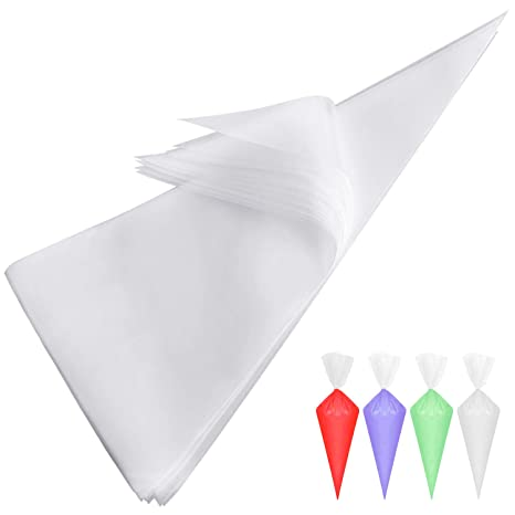 Extra Thick 100 Pack 12 Inch Disposable Pastry Bag Icing Piping Bag Cake Cupcake Decorating Bags