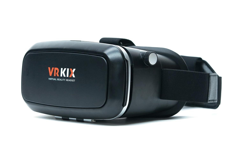 VR Kix VRKIX1.C Virtual Reality 3D Headset for Smartphones, Charcoal