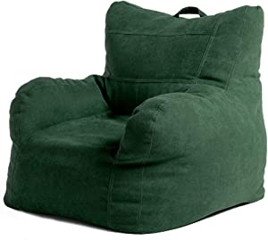 FBKPHSS Large Bean Bag Gamer Recliner, Lazy Lounger Highseat Chair Washable with EPP Filler Bean Bag Sofa Chair Cover for Outdoor and Indoor 807863CM,Green,EPS