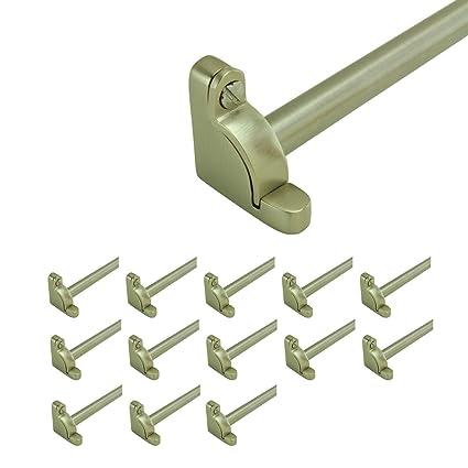 Brushed Satin Nickel Round Carpet Rods For Stairs Runner Rod Tube Holder 39  5/8