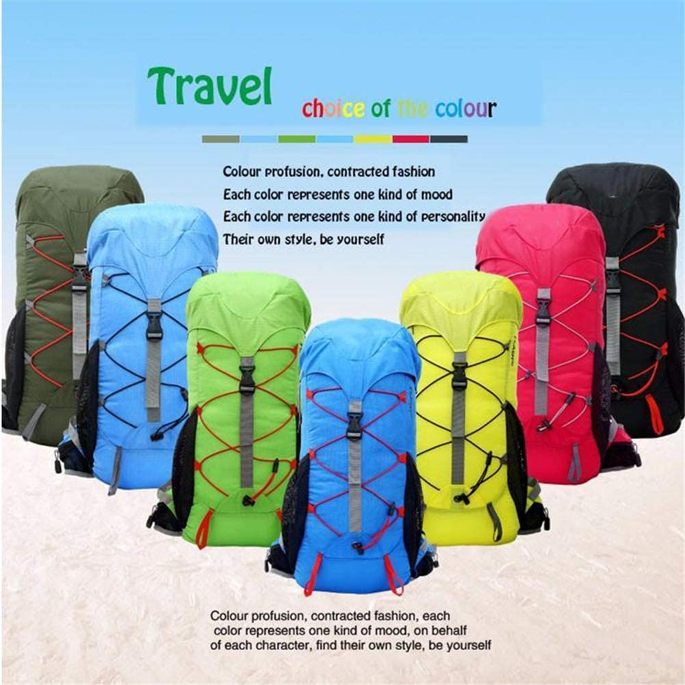 TJZY Waterproof Backpack for Outdoor Hiking Camping Travel 35L Large Sports Bag//Style//F