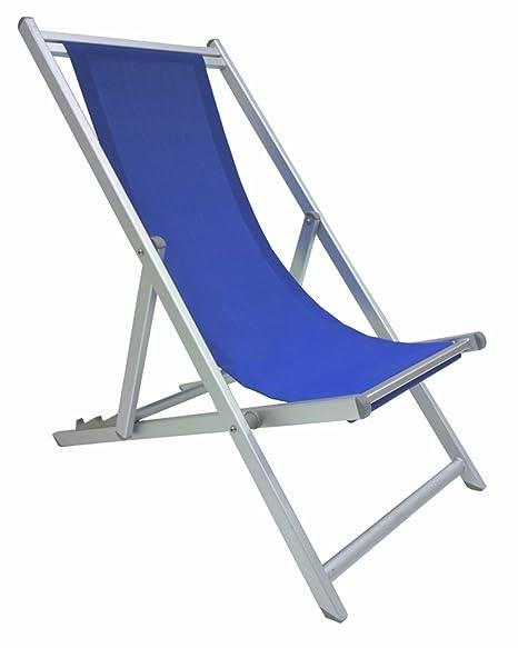 Sedia Sdraio In Alluminio.Sedia Sdraio Pieghevole Prendisole Blu Lusso In Alluminio Antiruggine Per Mare Campeggio Spiaggia Stabilimento Piscina Giardino