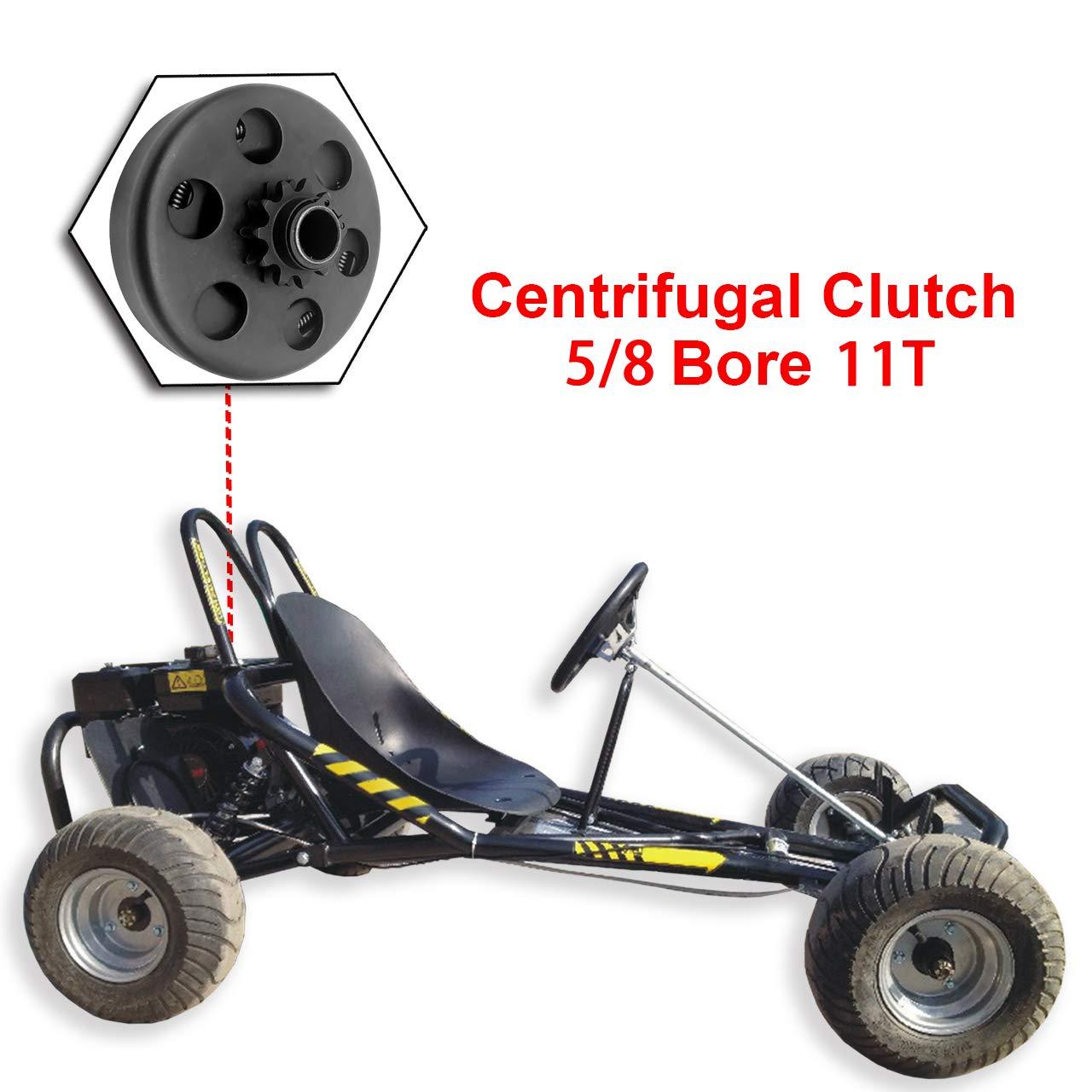DEDC 1pcs Embrague Centr/ífugo 5//8 Embrague de Kart 11T para Go-karts Mini Bicicletas Motocicletas Equipos de Jardiner/ía Bombas