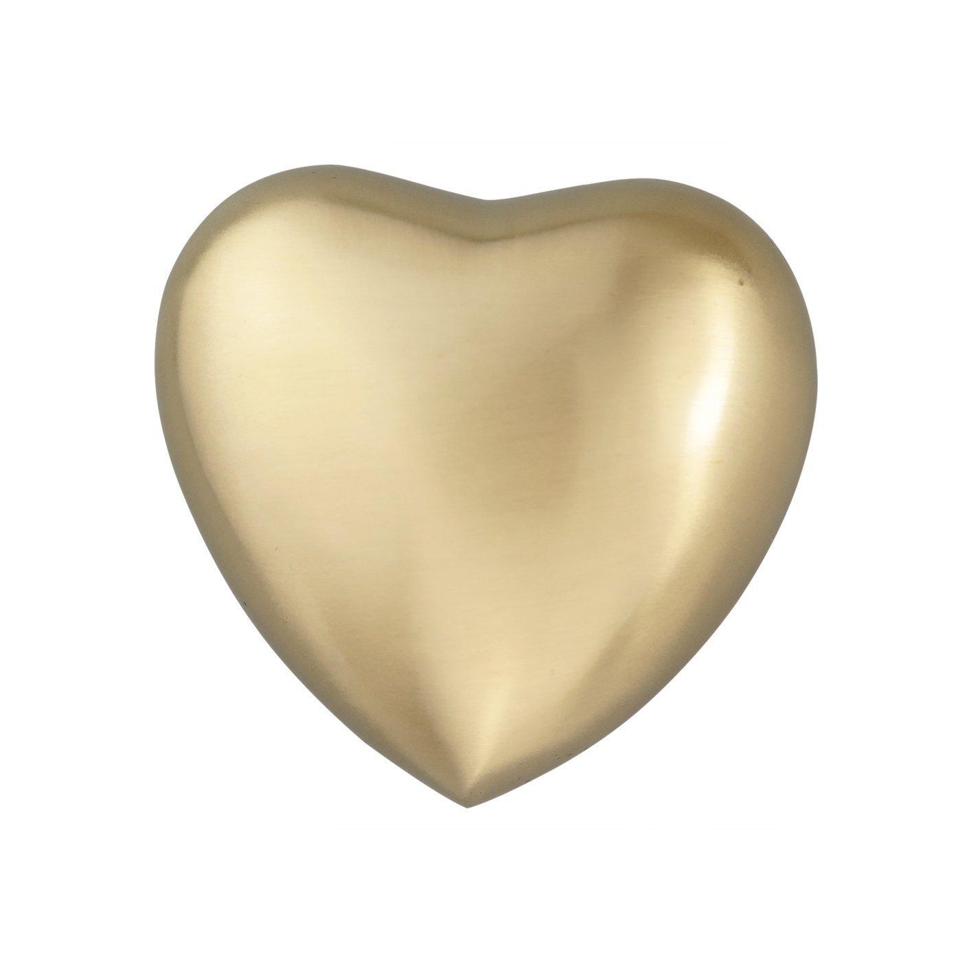 Classique Cœur Doré Urne funéraire souvenir pour chien ou chat avec gravure personnalisée Love to Treasure