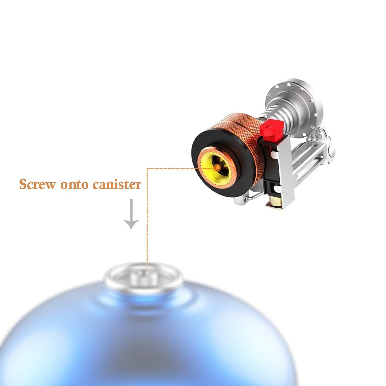 SAMENY Ultraligero Estufas port/átiles para Actividades al Aire Libre Mini Quemador Estufa de Camping Estufa de Encendido electr/ónico Integrado Encendedores Encendedor de Fuego